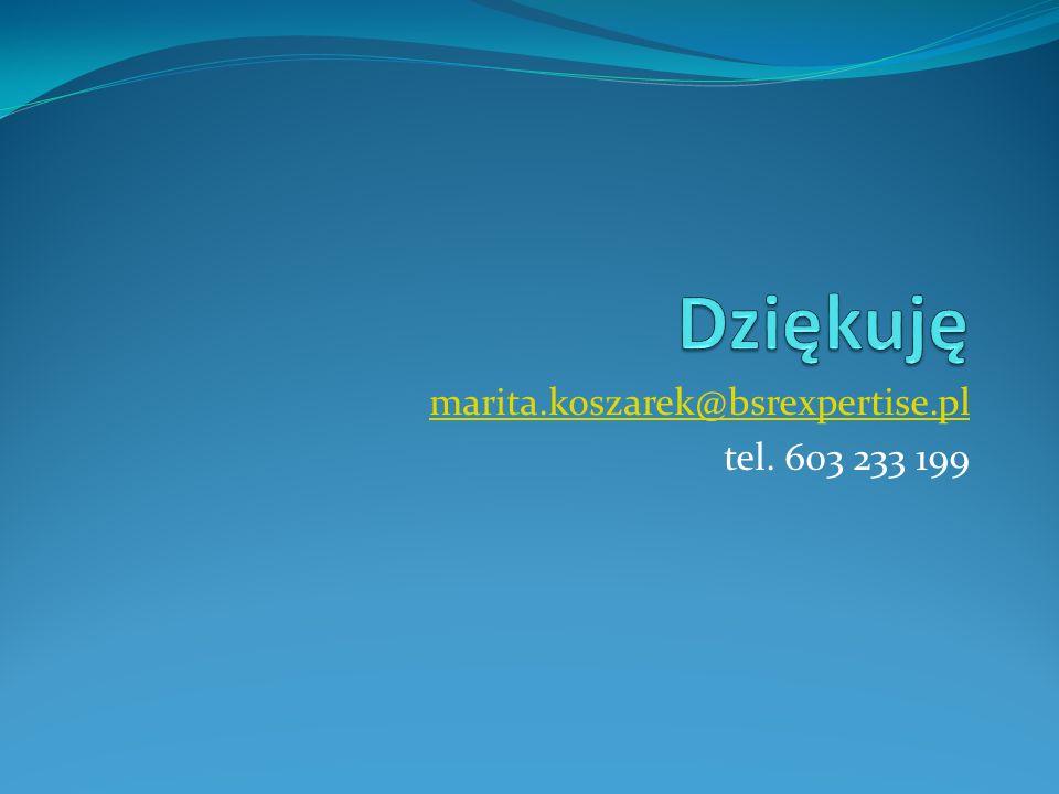 marita.koszarek@bsrexpertise.pl tel. 603 233 199