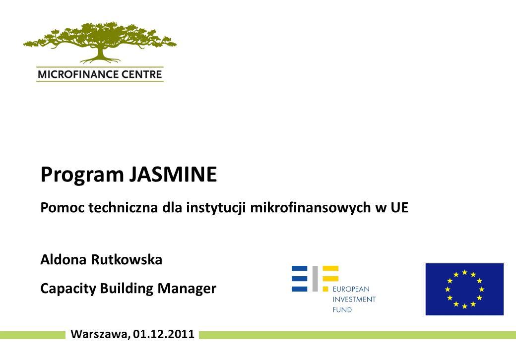 Program JASMINE Pomoc techniczna dla instytucji mikrofinansowych w UE