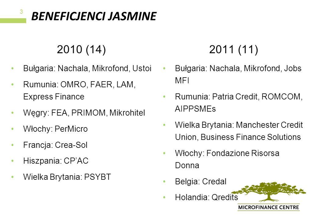 BENEFICJENCI JASMINE 2010 (14) 2011 (11)