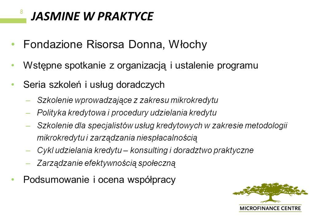 JASMINE W PRAKTYCE Fondazione Risorsa Donna, Włochy