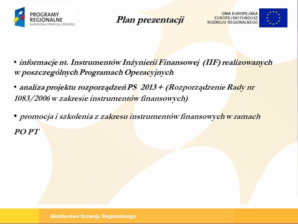 promocja i szkolenia z zakresu instrumentów finansowych w ramach