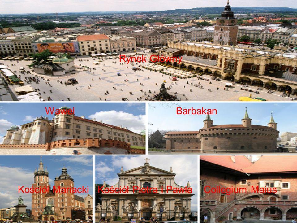 Rynek Główny Wawel Barbakan.