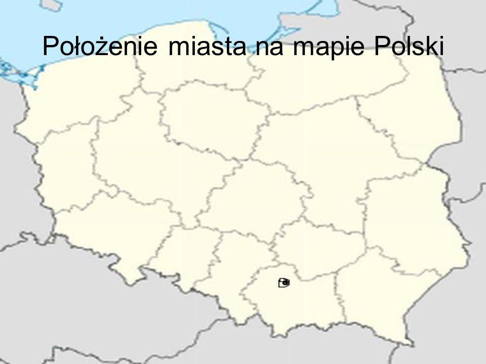 Położenie miasta na mapie Polski