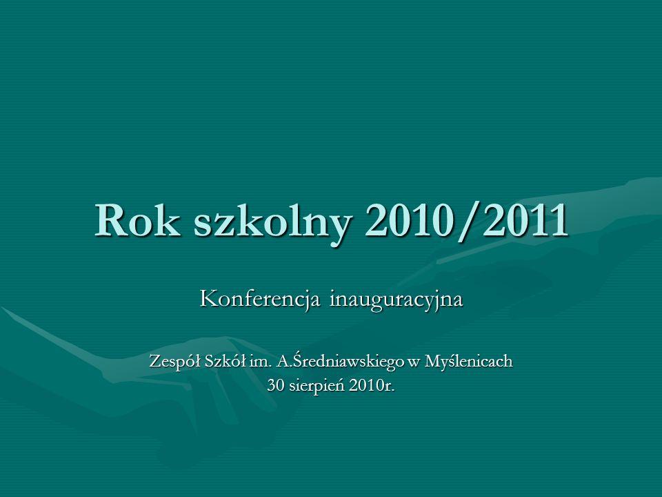Rok szkolny 2010/2011 Konferencja inauguracyjna