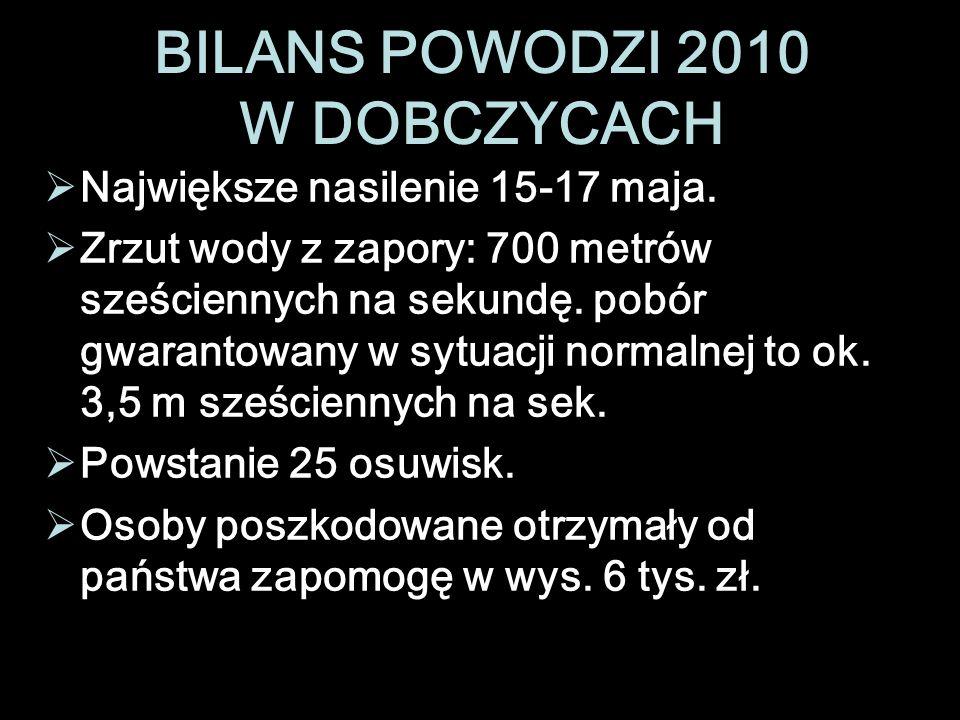 BILANS POWODZI 2010 W DOBCZYCACH