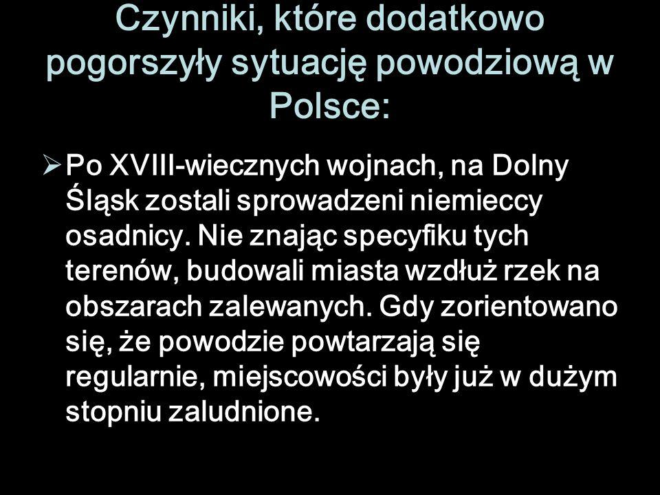 Czynniki, które dodatkowo pogorszyły sytuację powodziową w Polsce: