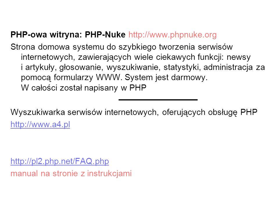 PHP-owa witryna: PHP-Nuke http://www.phpnuke.org