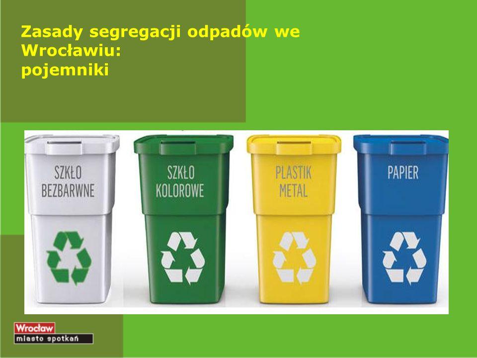 Zasady segregacji odpadów we Wrocławiu: pojemniki