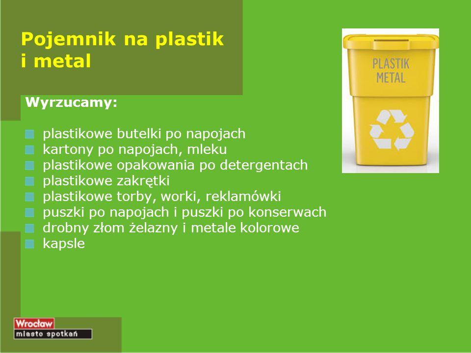 Pojemnik na plastik i metal