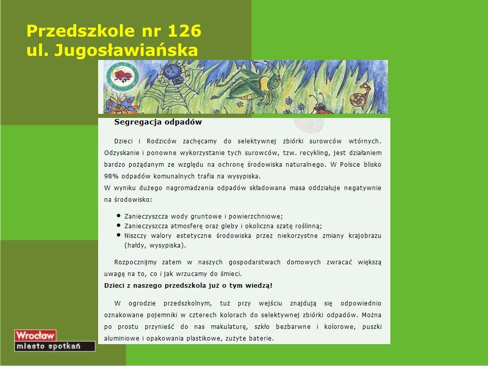 Przedszkole nr 126 ul. Jugosławiańska