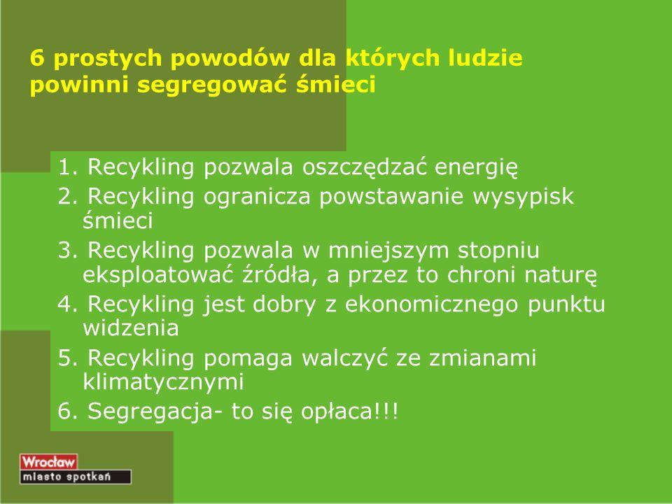 6 prostych powodów dla których ludzie powinni segregować śmieci