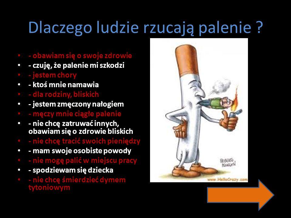 Dlaczego ludzie rzucają palenie