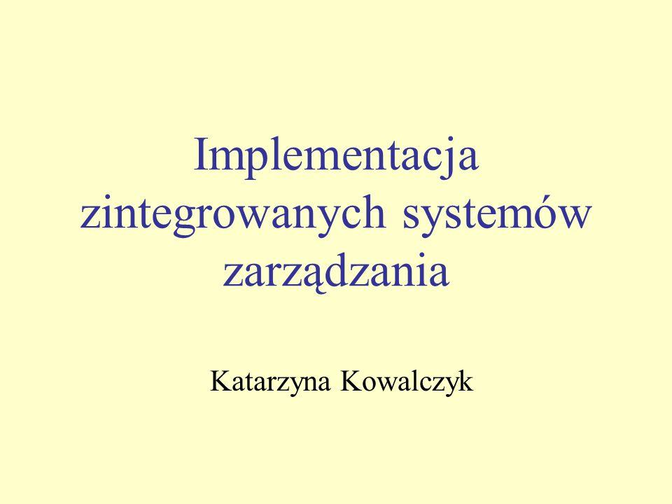 Implementacja zintegrowanych systemów zarządzania
