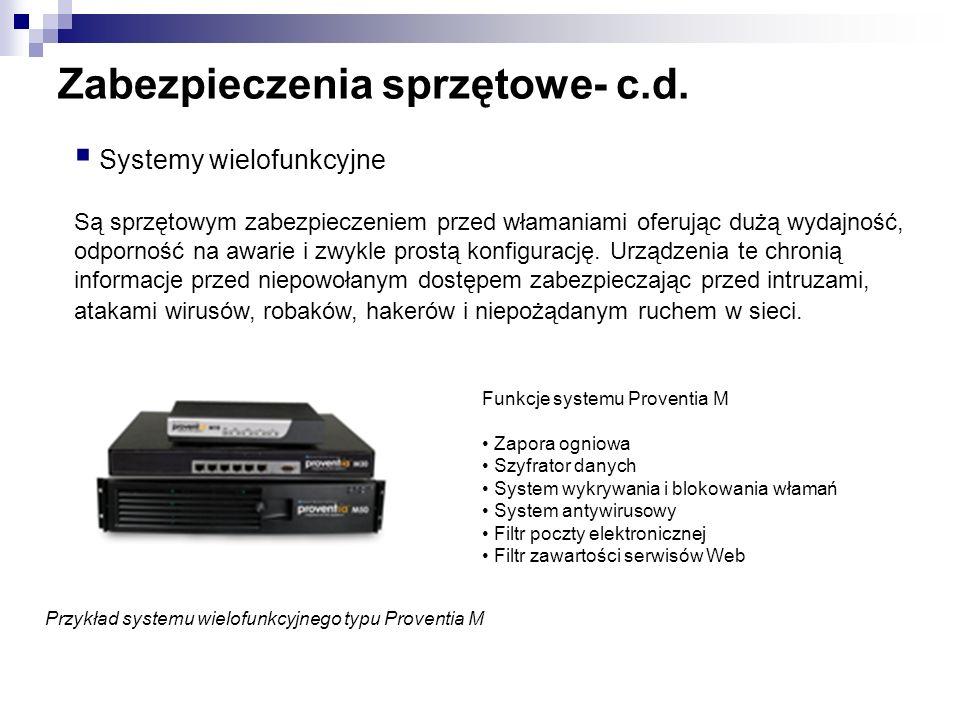Zabezpieczenia sprzętowe- c.d.