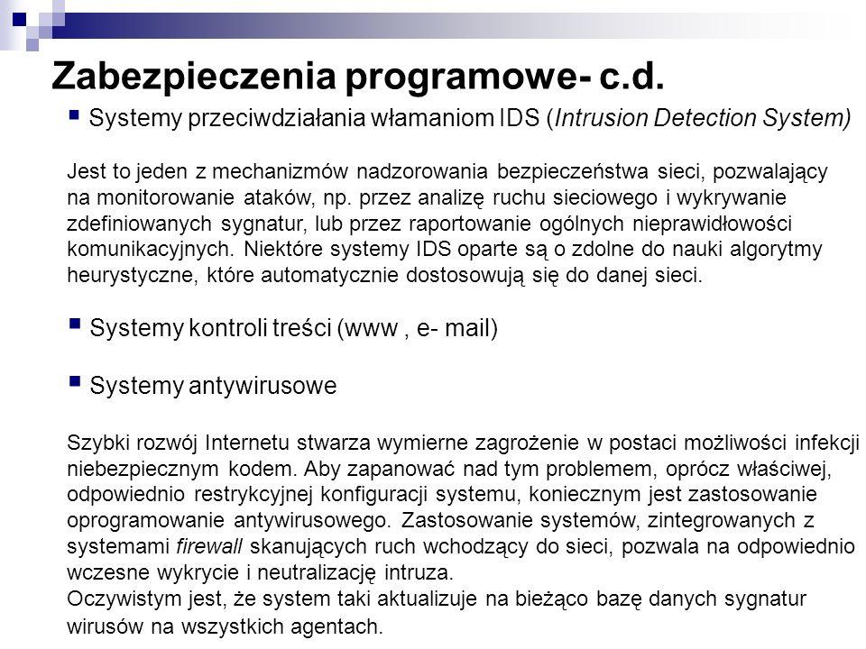 Zabezpieczenia programowe- c.d.