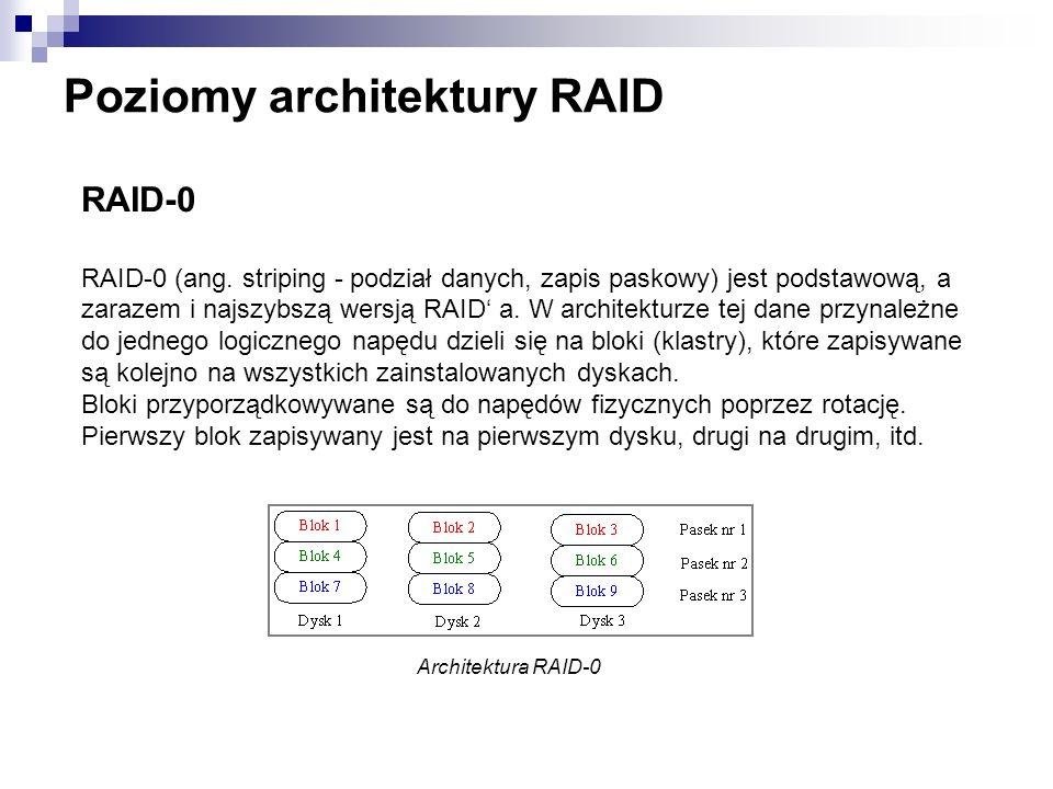 Poziomy architektury RAID