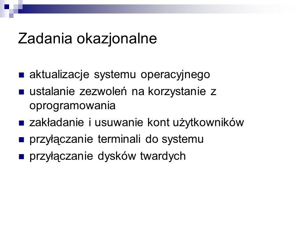 Zadania okazjonalne aktualizacje systemu operacyjnego