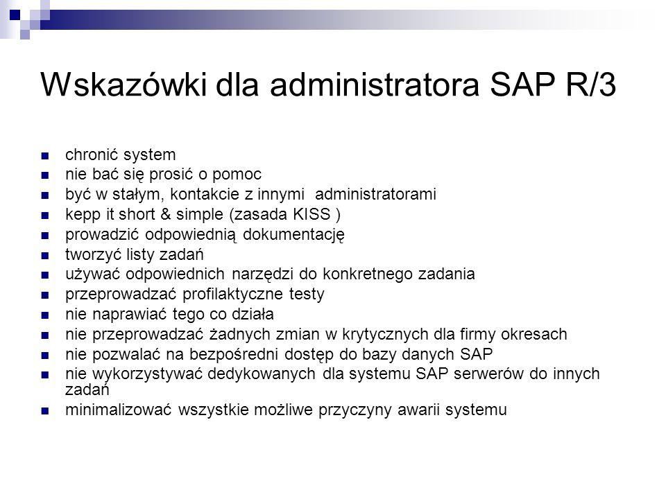 Wskazówki dla administratora SAP R/3