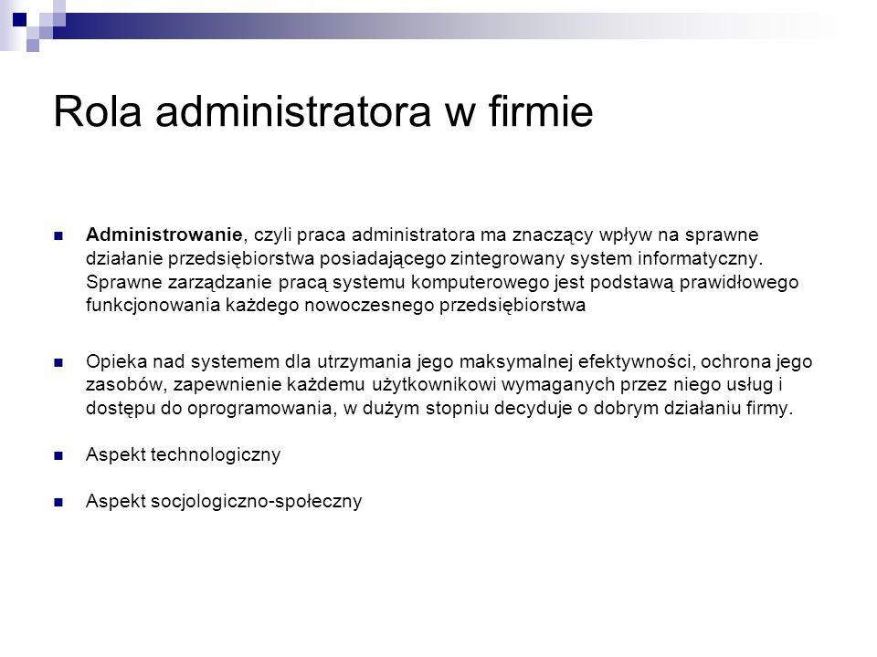 Rola administratora w firmie