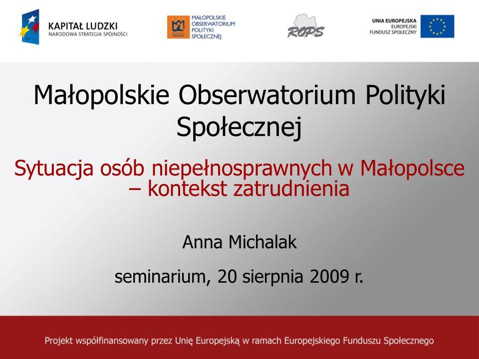 Małopolskie Obserwatorium Polityki Społecznej