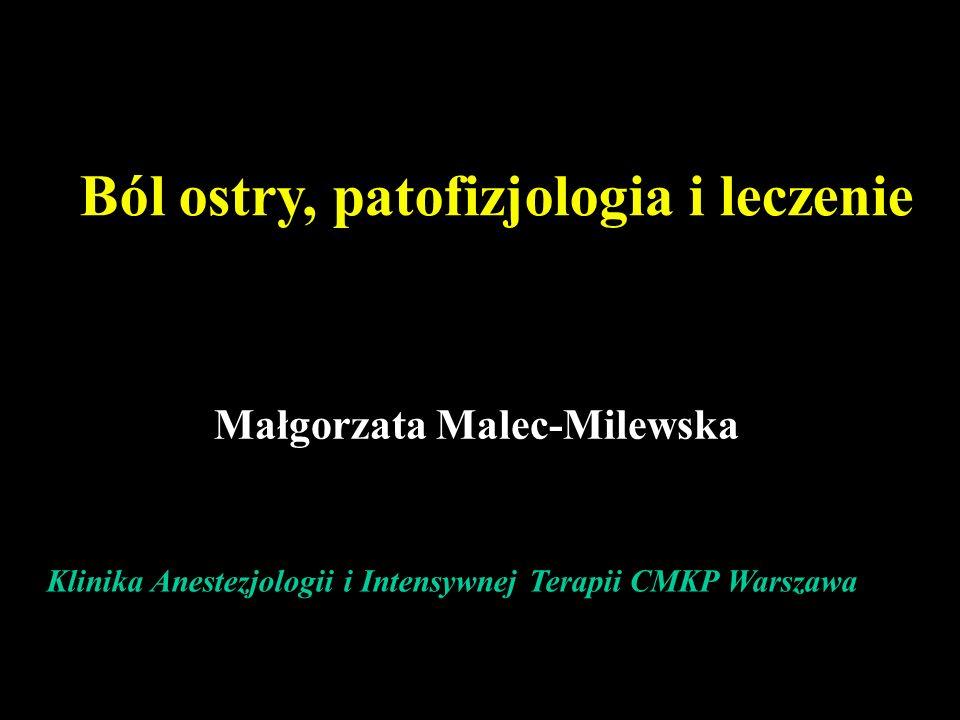 Ból ostry, patofizjologia i leczenie