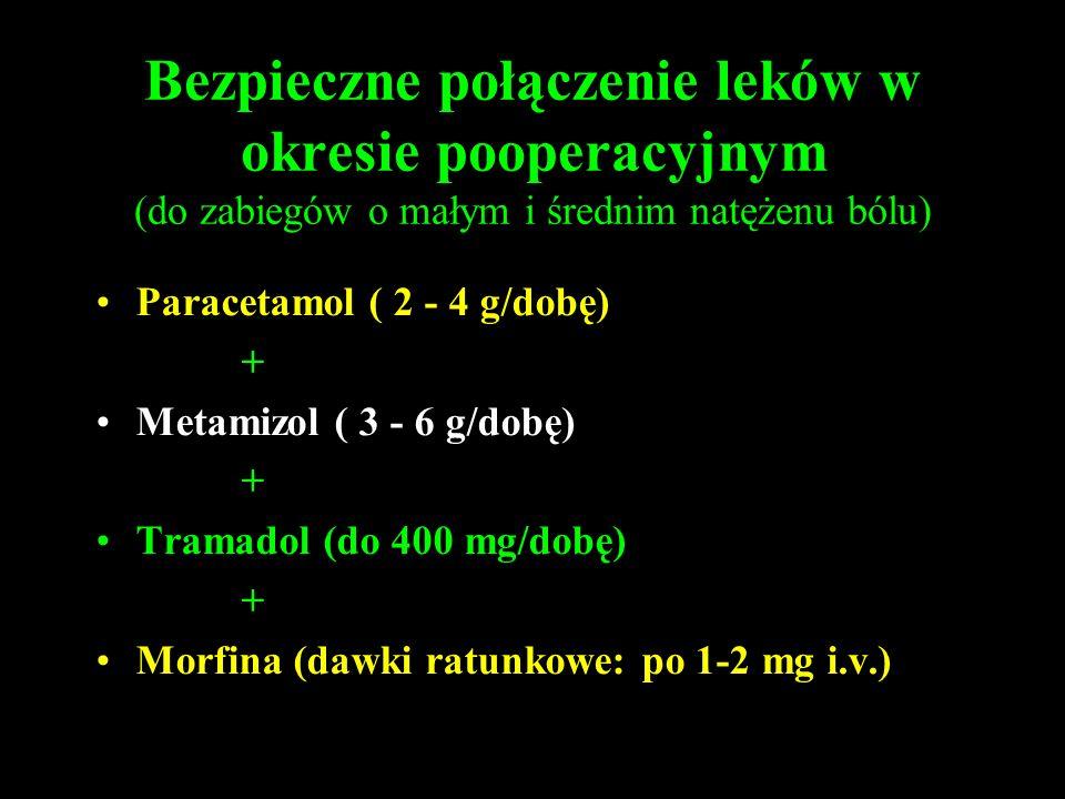 Bezpieczne połączenie leków w okresie pooperacyjnym (do zabiegów o małym i średnim natężenu bólu)