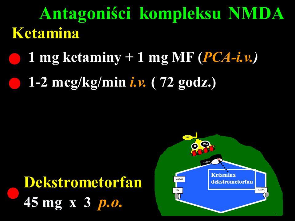 Antagoniści kompleksu NMDA