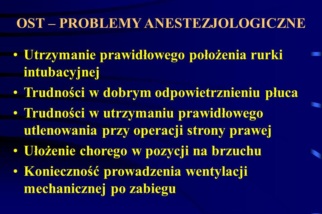 OST – PROBLEMY ANESTEZJOLOGICZNE