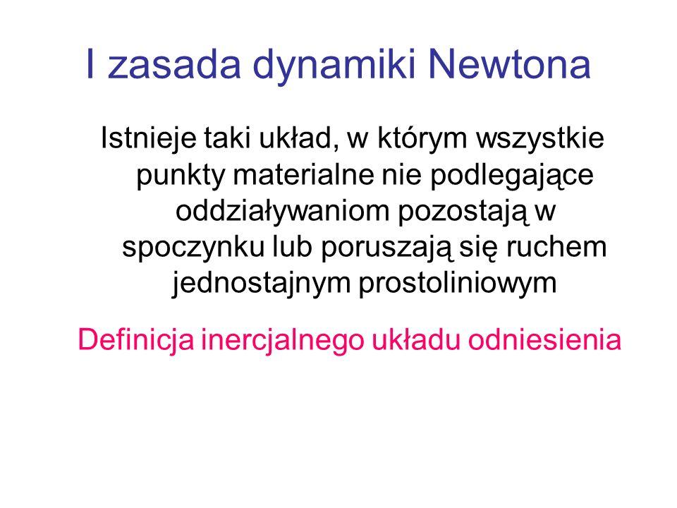 I zasada dynamiki Newtona