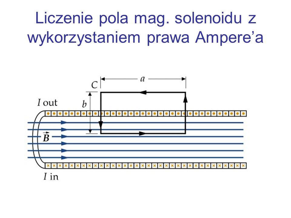 Liczenie pola mag. solenoidu z wykorzystaniem prawa Ampere'a