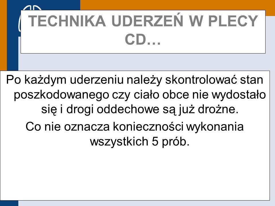 TECHNIKA UDERZEŃ W PLECY CD…