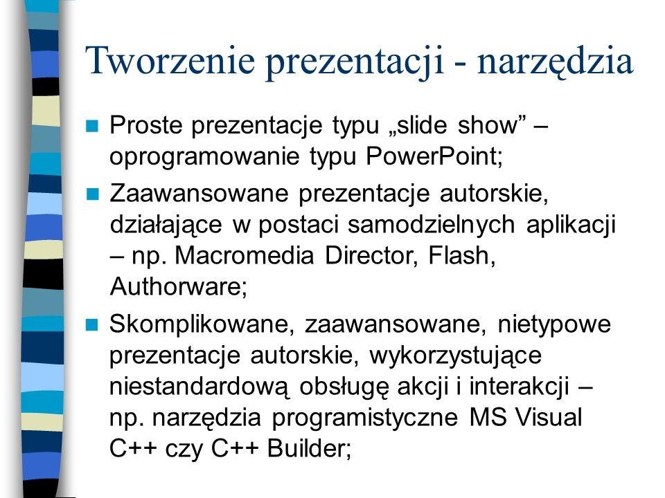 Tworzenie prezentacji - narzędzia