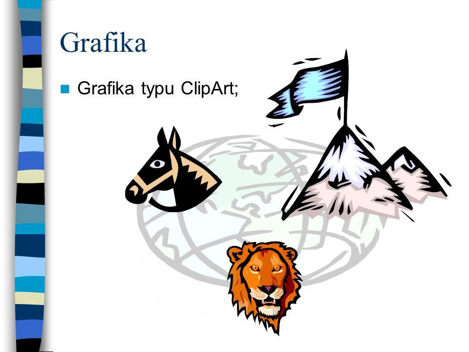 Grafika Grafika typu ClipArt;