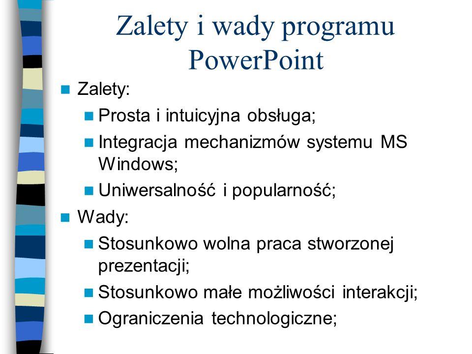 Zalety i wady programu PowerPoint