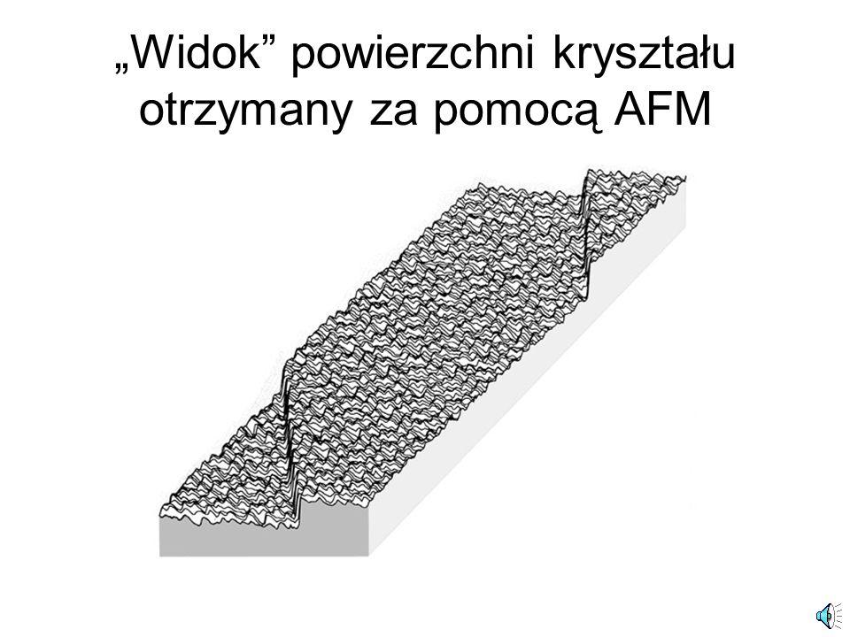 """""""Widok powierzchni kryształu otrzymany za pomocą AFM"""