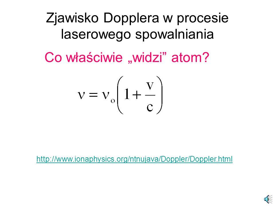 Zjawisko Dopplera w procesie laserowego spowalniania