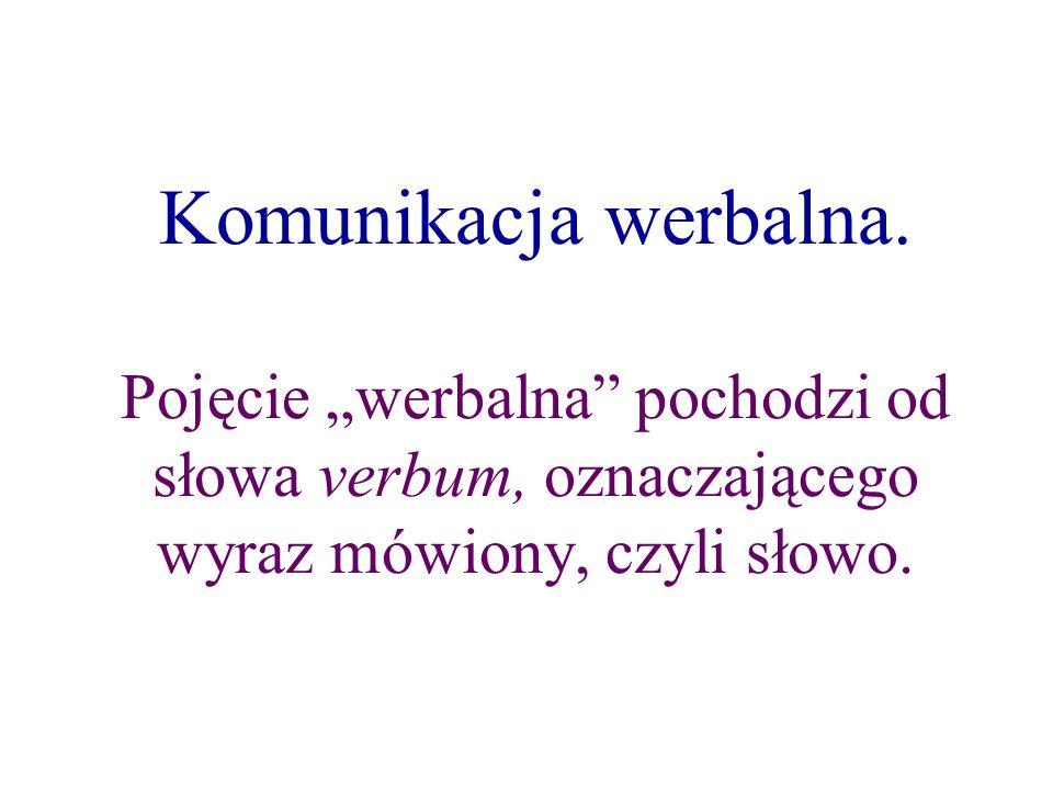 Komunikacja werbalna.