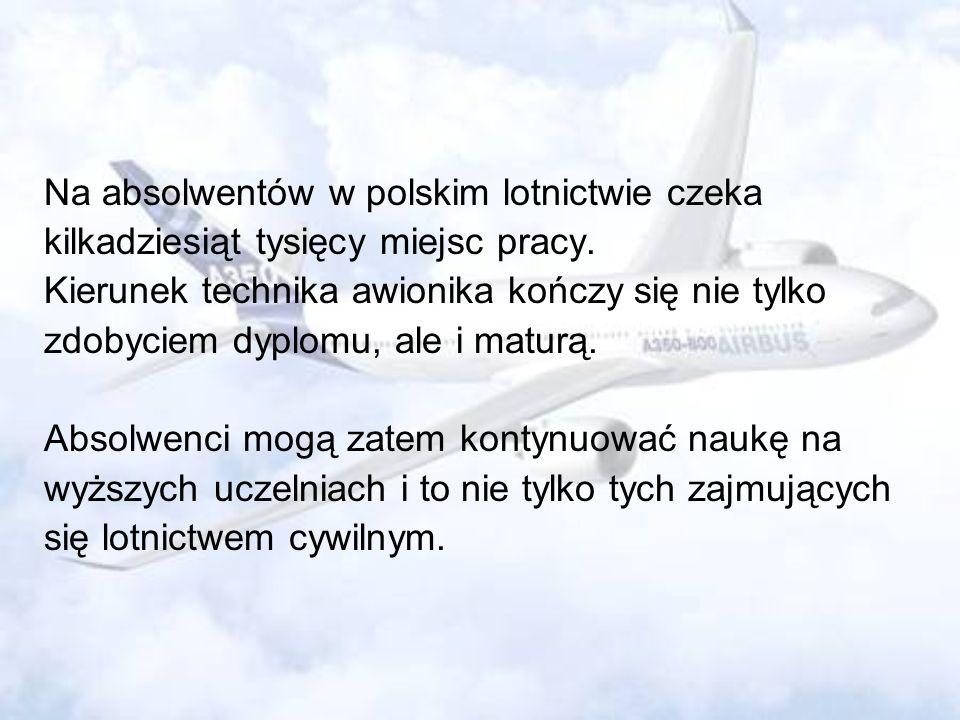 Na absolwentów w polskim lotnictwie czeka
