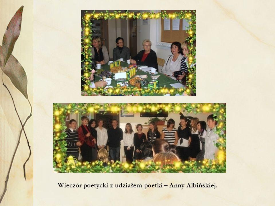 Wieczór poetycki z udziałem poetki – Anny Albińskiej.