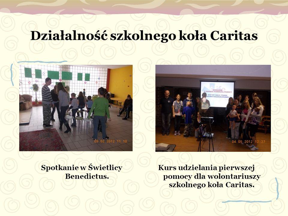 Działalność szkolnego koła Caritas
