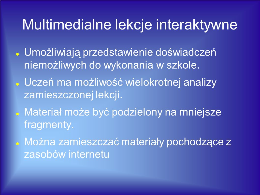 Multimedialne lekcje interaktywne