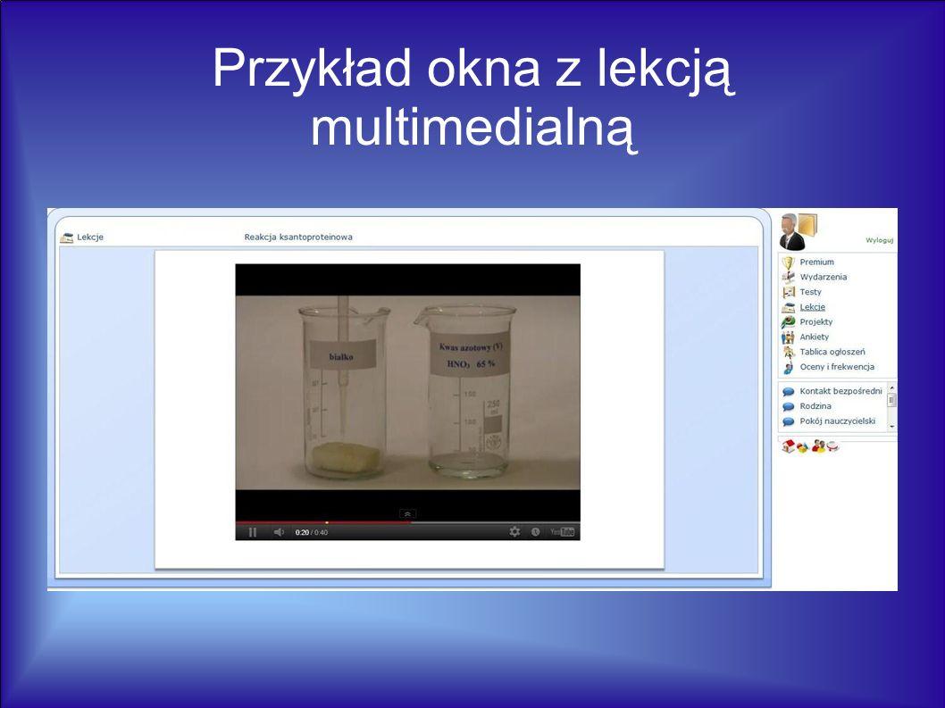 Przykład okna z lekcją multimedialną