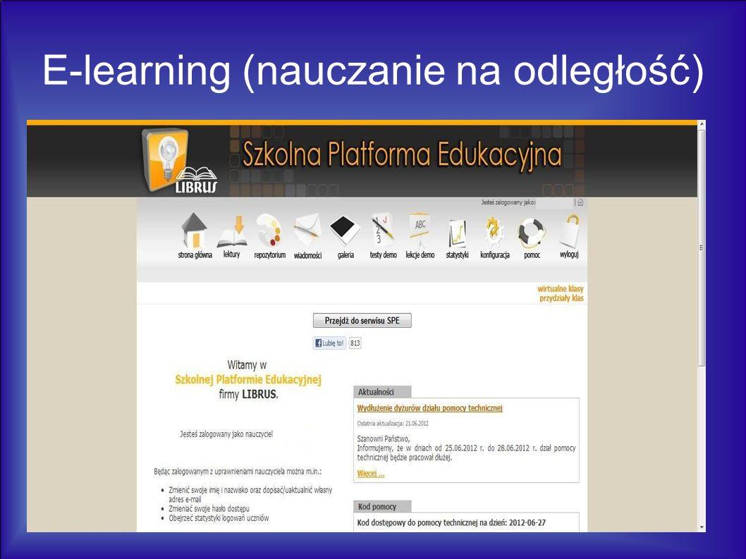 E-learning (nauczanie na odległość)