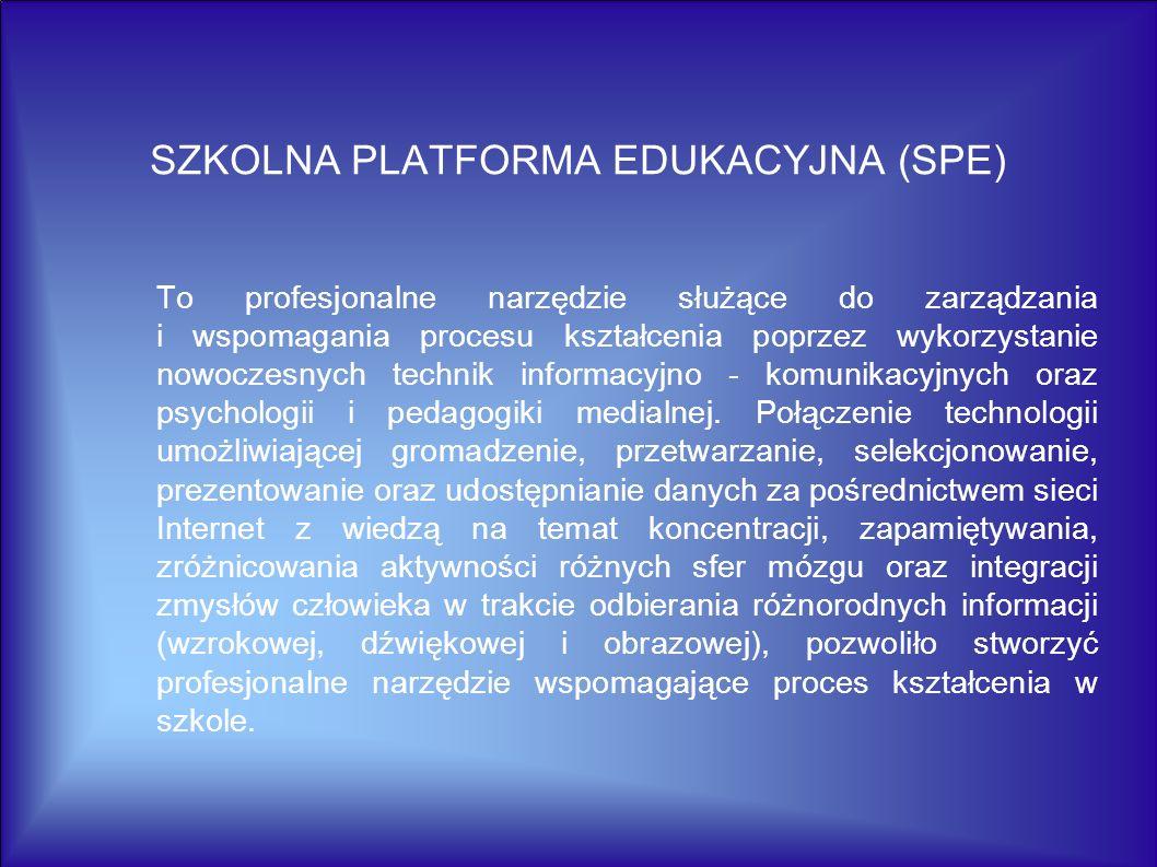 SZKOLNA PLATFORMA EDUKACYJNA (SPE)