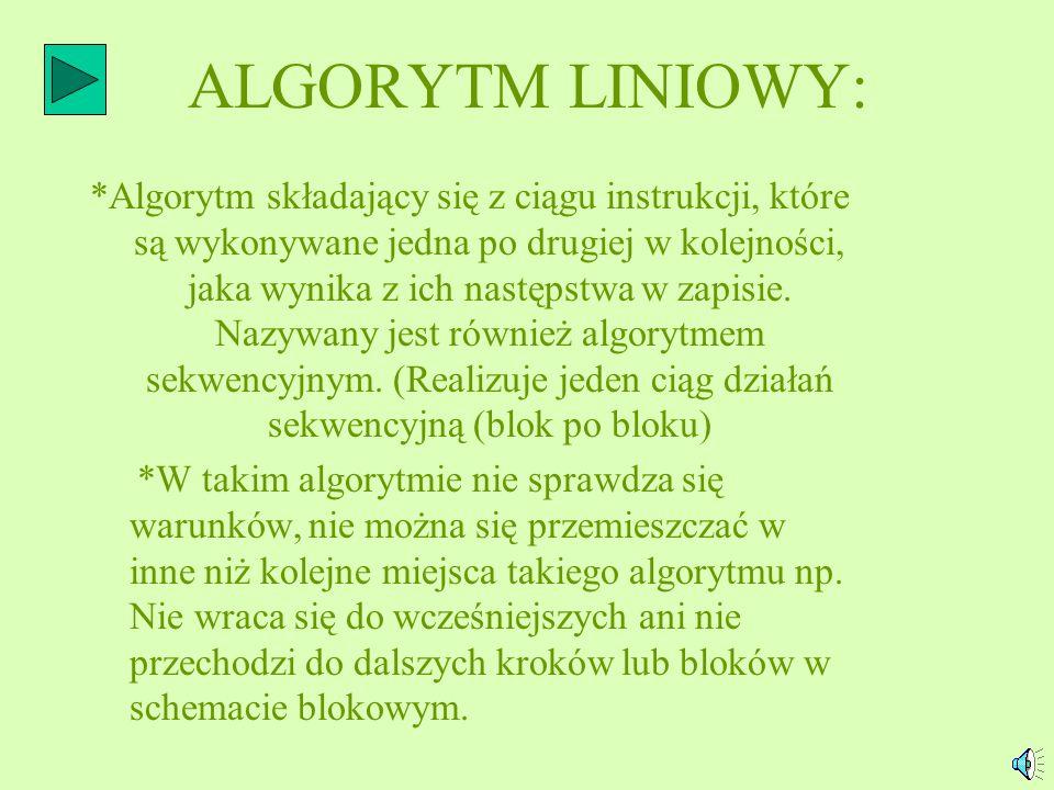 ALGORYTM LINIOWY: