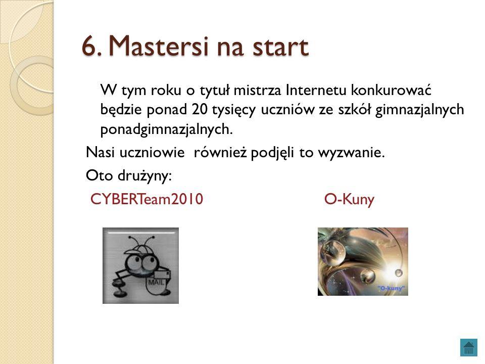 6. Mastersi na start