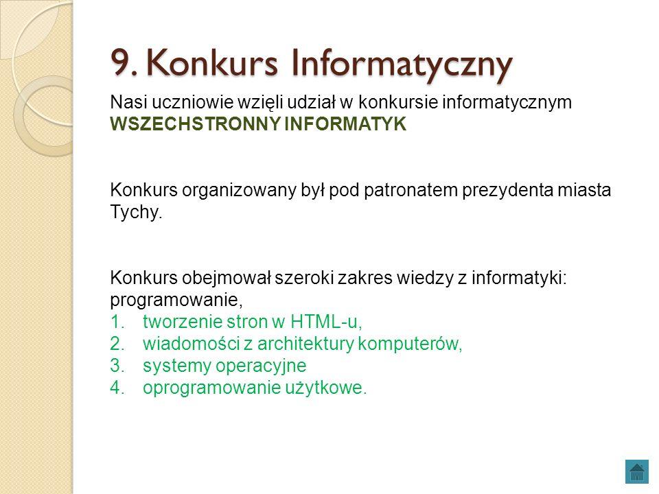 9. Konkurs Informatyczny