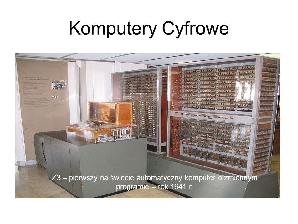 Komputery Cyfrowe Z3 – pierwszy na świecie automatyczny komputer o zmiennym programie – rok 1941 r.
