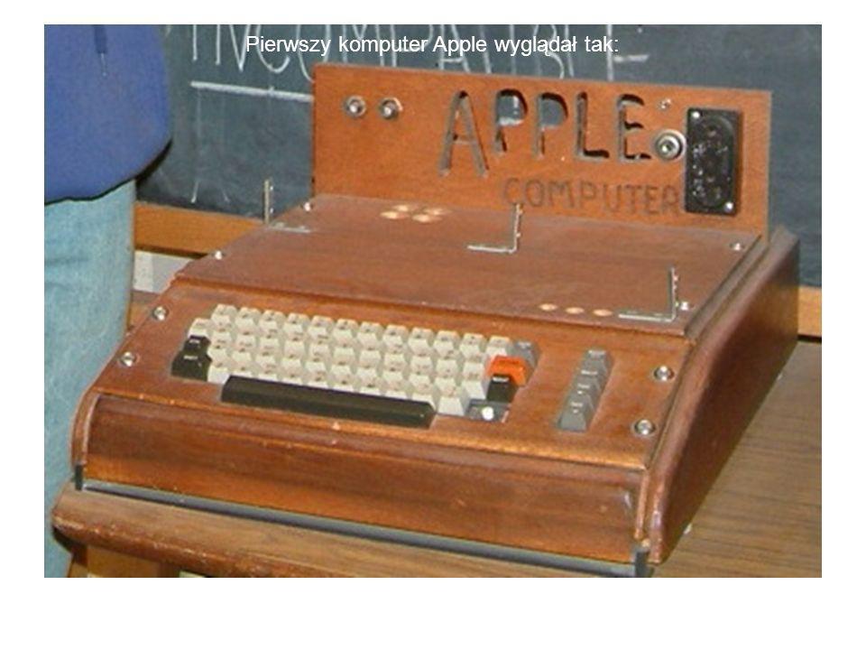 Pierwszy komputer Apple wyglądał tak: