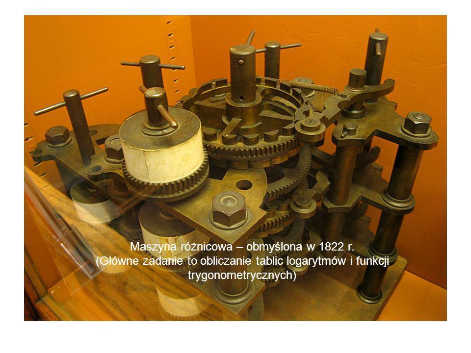 Maszyna różnicowa – obmyślona w 1822 r.